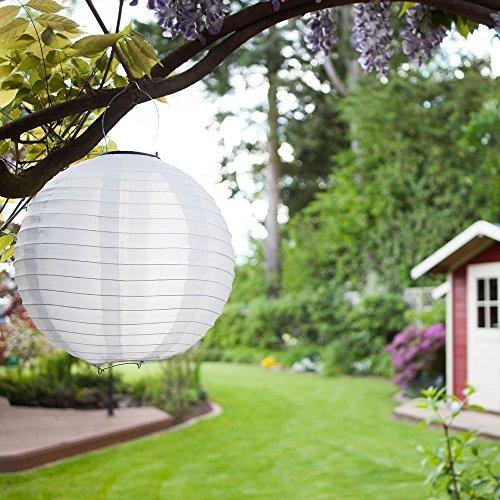 Eniko Solar Lampions 5er Set Led Laterne Wasserfest IP55 für Garten Deko Terrasse, Hof, Haus, Weihnachtsbaum...