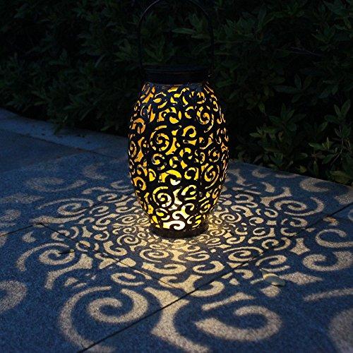 Solarlaterne für außen, Tomshine Dekorative Solarlampe Garten Laterne, IP44 Wasserdicht LED Solar Laterne...