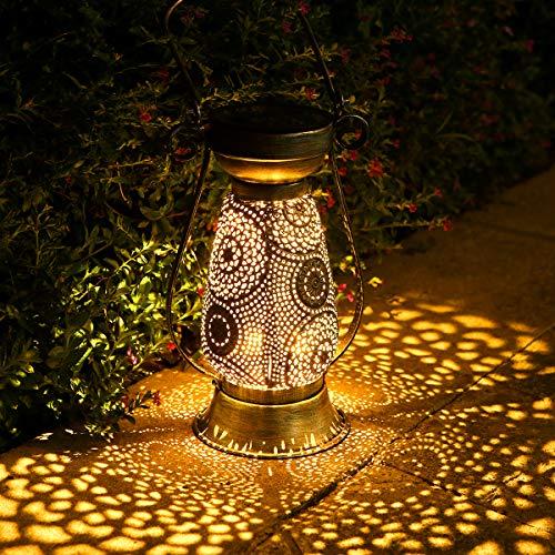 Solarlaterne für außen, Görvitor LED Solar Laterne Hängend für Draußen, Dekorative Solarlampe Garten...