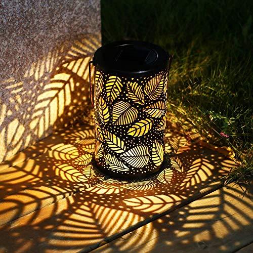 YWJPJ. LED Solarlaterne Outdoor Dekorative Metall Hängende Lichter Hohl Für Garten Yard Tischplatte Patio Rasenbaum Ornamente,owl