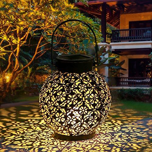 Tomshine Solar Laterne Dekorative Metall Hängende LED-Leuchten IP44 Wasserdicht für Patio Courtyard Balcony Garden