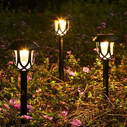 Görvitor Solarleuchten Garten, LED Warmweiß Solarlampen für Außen, IP45 Wasserdicht Solar Wegeleuchte...