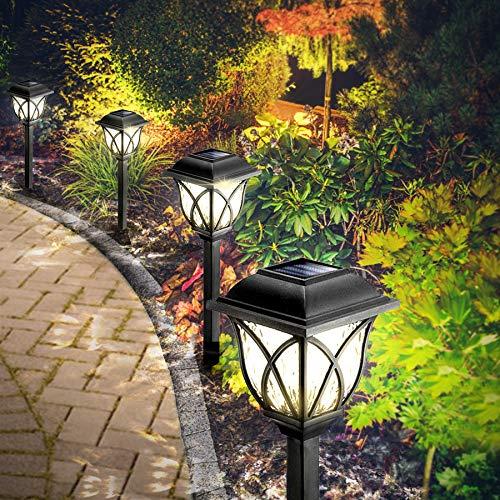 Solarleuchten Garten, 6 Stück LED Warmweiß Solar Gartenleuchte für Außen mit IP44 Wasserdicht, Görvitor...