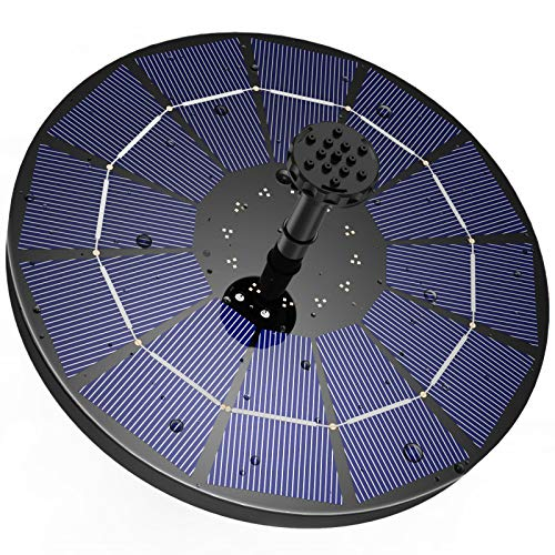 AISITIN Solar Springbrunnen mit 3.5W Solar Panel , Solar Teichpumpe Eingebaute 1500 mAh Batterie Wasserpumpe...