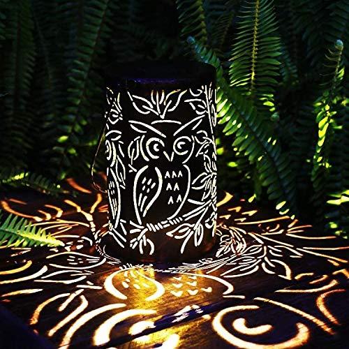 YWJPJ. LED Solarlaterne Outdoor Dekorative Metall Hängende Lichter Hohl Für Garten Yard Tischplatte Patio Rasenbaum Ornamente,Tree