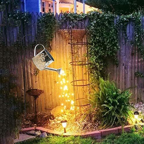 XeinGanpre – Wasserfall Licht, Fairy Lights, Lichterkette für Garten, Kupferdraht, Laternen, Ornamente für Rasen und Garten, lustig, LED-Leuchten für Solar-Dekoration für den Garten