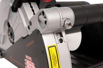 FERM WSM1008 Mauernutfräse Schlitzfräse 1600W - 2 Diamantscheiben 150mm - Laserfürhrung - Staubabsaugungsadapter - Nylon-Tragetasche -