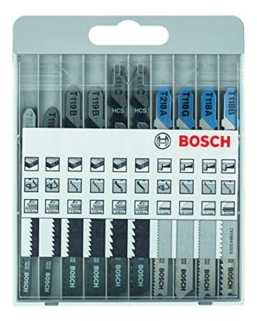 Bosch Pro 10tlg. Stichsägeblatt-Set Basic for Metal and Wood zum Sägen in Metall und Holz -
