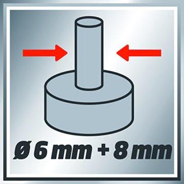 Einhell Oberfräse TC-RO 1155 E (1100 W, Ø 6 und 8 mm, Drehzahlregelung, Parallelanschlag, Absaugadapter, inkl. Zubehör) -