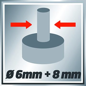 Einhell Oberfräse TE-RO 1255 E (1200 W, Ø 6 und 8 mm, Drehzahlregelung, Parallelanschlag, Absaugadapter, inkl. Zubehör) -