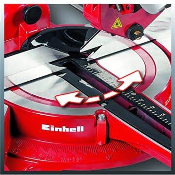 Einhell Zug Kapp Gehrungssäge TC-SM 2131 Dual (1800 W, Sägeblatt Ø 210 mm, Schnittbreite 310 mm, schwenkbarer Sägekopf, Laser) -