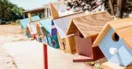 Kostenloses Vogelhaus-Muster in 2 einfachen Schritten